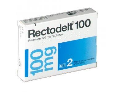 Rectodelt (prednisone) 100 rectal suppositories 100 mg. №2