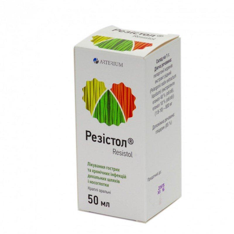 Rezistol (Pelargoni radix extractum liquidum) oral drops 50 ml. vial