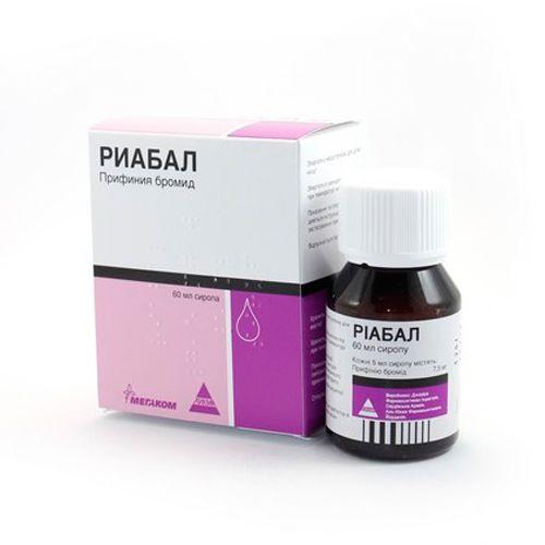 Riabal (prifinia bromide) syrup 7.5 mg/5 ml. 60 ml.