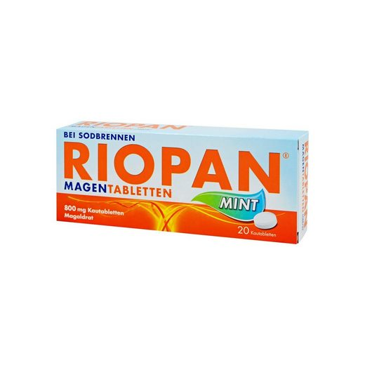 Riopan (magaldrate) chewable tablets 800 mg. №20