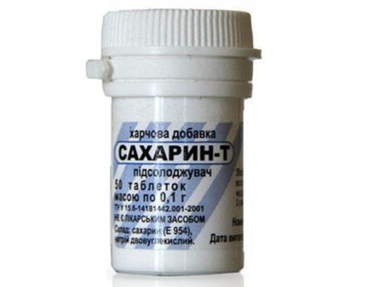 Sacharin-T tablets 0.1g. №50 vial