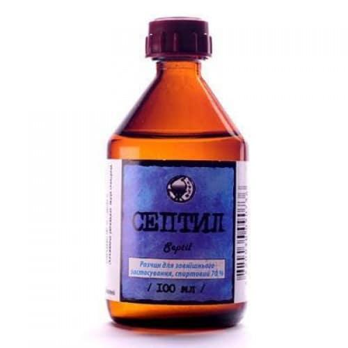 Septil Plus alcohol 96% 100 ml.