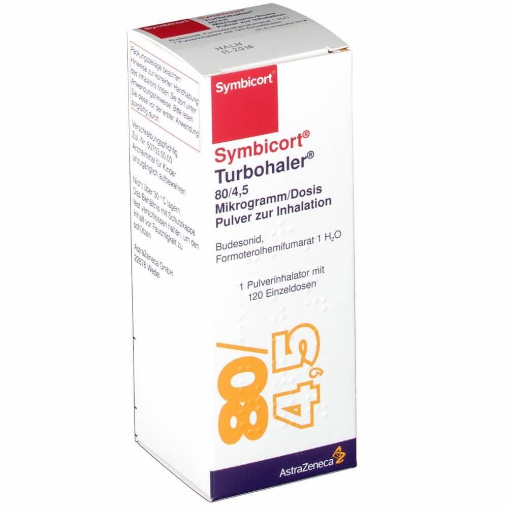 Simbicort Turbuchaler (micronized budesonide) powder for inhalation 80 mcg/4.5 mcg/dose №60