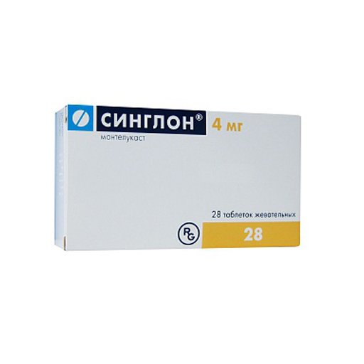 Singlon (montelukast) chewable tablets 4 mg. №28
