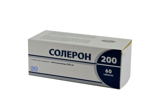 Soleron 200 (amisulpride) tablets 200 mg. №60