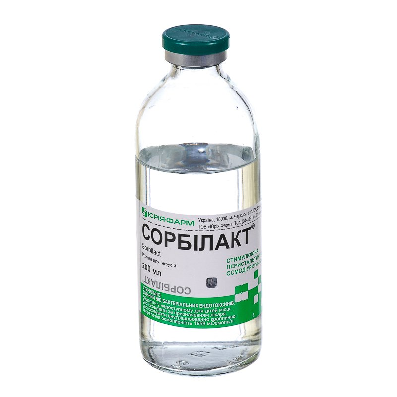 Sorbilact (sorbitol) solution for infusions 200 ml.