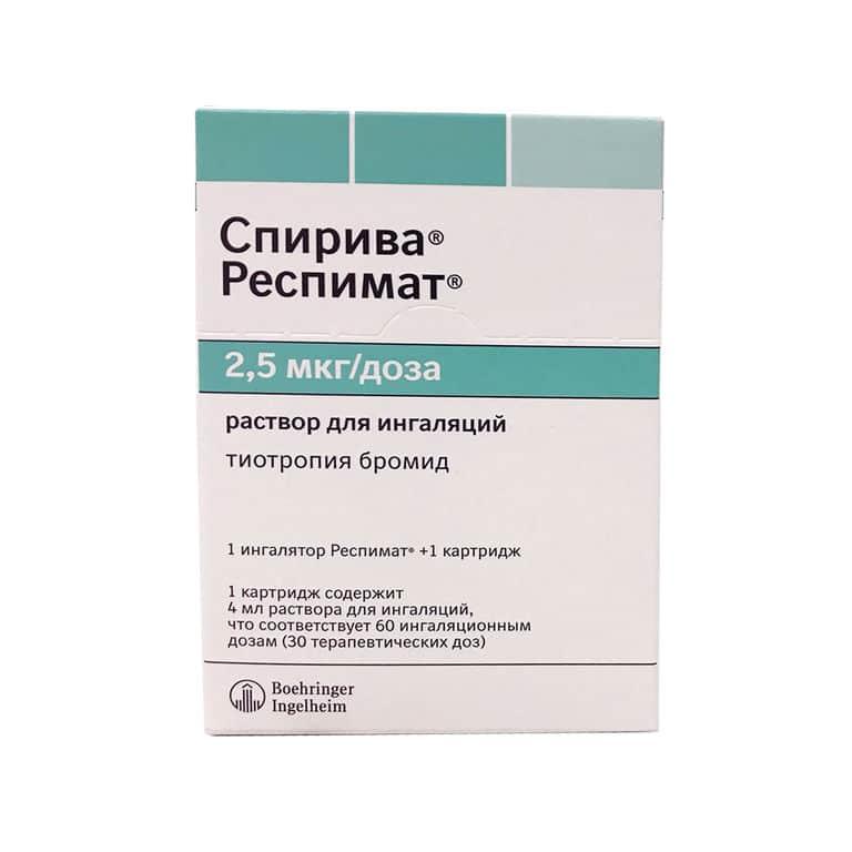 Spiolto Respimat (tiotropium + olodaterol) solution ing.2.5 mcg/ing.4 ml. №60