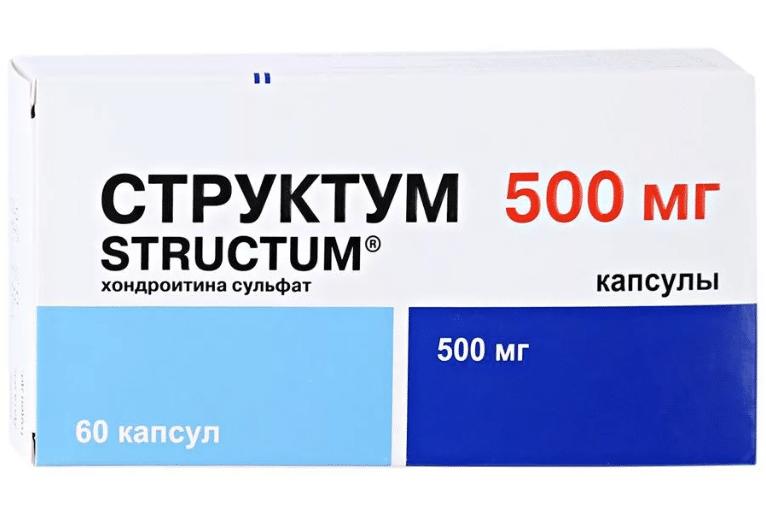 Structum (chondroitin sodium sulfate) capsules 500 mg. №60