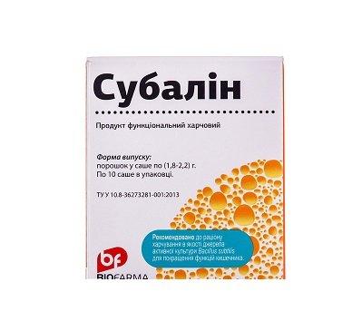 Subalin (bacillus subtilis) powder sachet №10