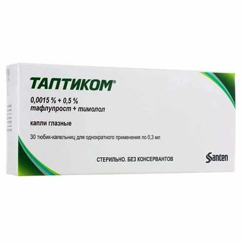 Tapticom eye drops 0.3 ml. №30