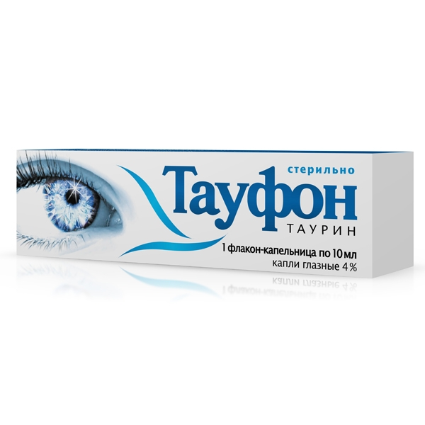 Taufon eye drops 4% 10 ml. vial