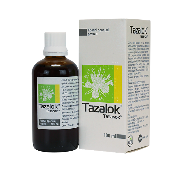 Tazalok drops for oral use 100 ml. vial