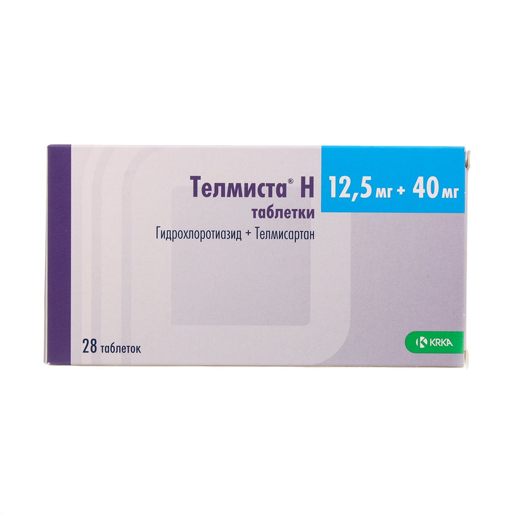 Telmista N 40 tablets 40 mg/12.5 mg. №28
