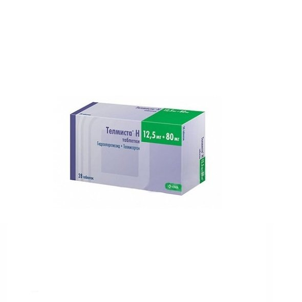 Telmista N 80 tablets 80 mg/12.5 mg. №28