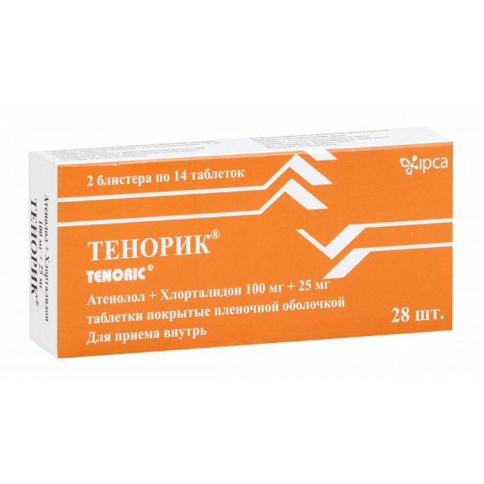 Tenorik coated tablets 100 mg/25 mg. №28