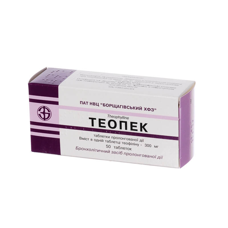 Teopek tablets with prolonged release 300 mg. №50