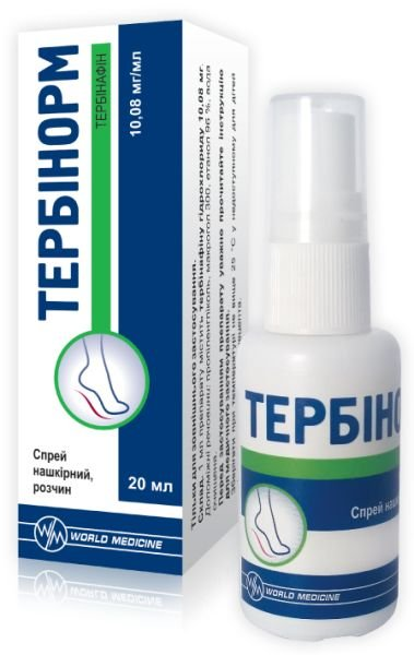 Terbinorm spray 10.08 mg/ml. 20 ml. vial