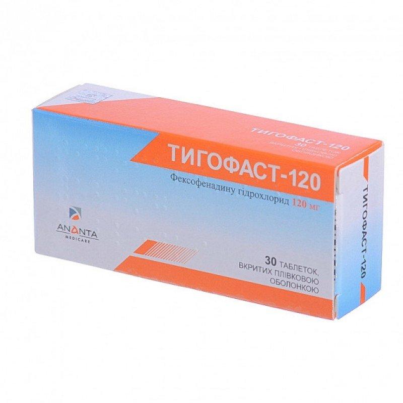 Tigofast-120 coated tablets 120 mg. №30