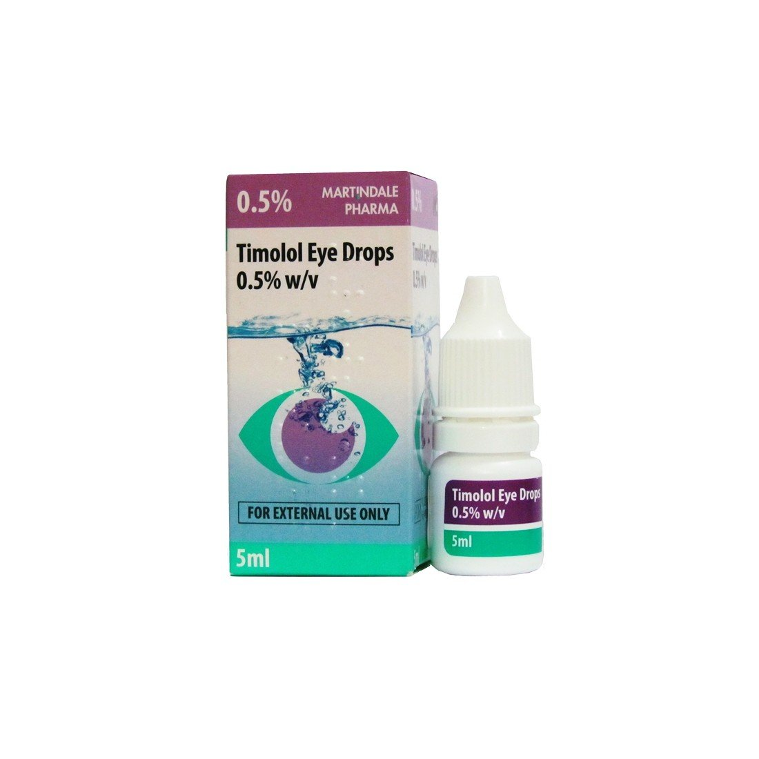 Timolol eye drops 0.5% 5 ml.