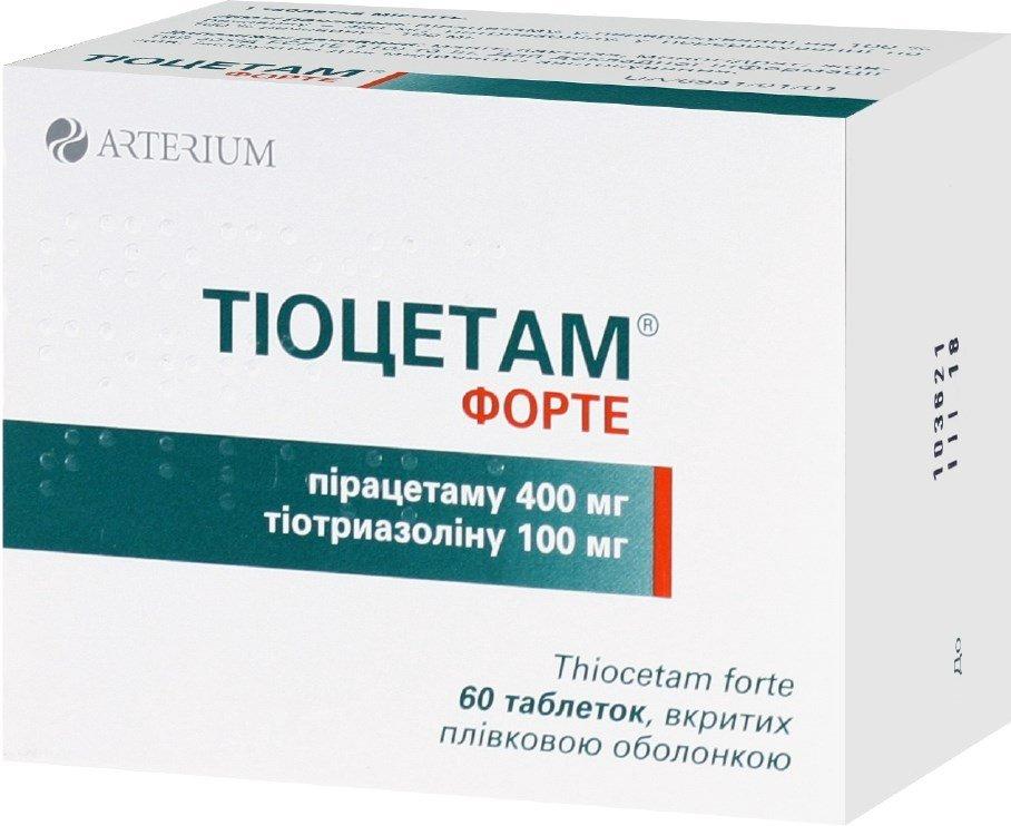 Tiocetam forte coated tablets №60