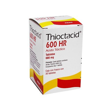 Tioctacid 600HR coated tablets 600 mg. №30 vial