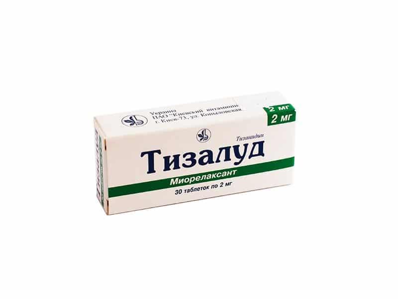 Tizalud tablets 2 mg. №30