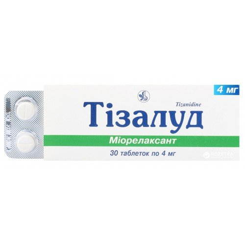 Tizalud tablets 4 mg. №30