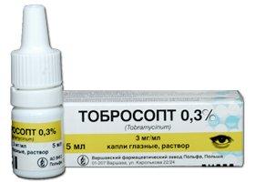Tobrosopt eye drops 3 mg/ml. 5 ml.