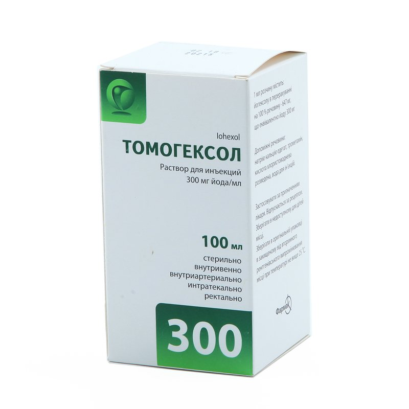 Tomogexol solution for injections 300 mg./ml. 100 ml. №1 vial