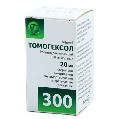 Tomogexol solution for injections 300 mg/ml. 20 ml. №1 vial