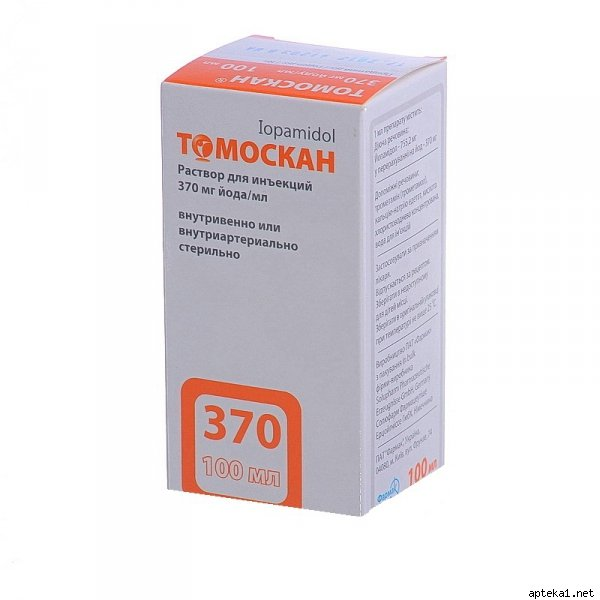 Tomoscan solution for injections 370 mg/ml. 100 ml. vial №1