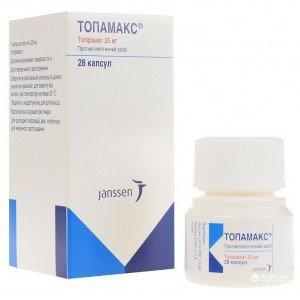Topamax capsules 25 mg. №28 vial