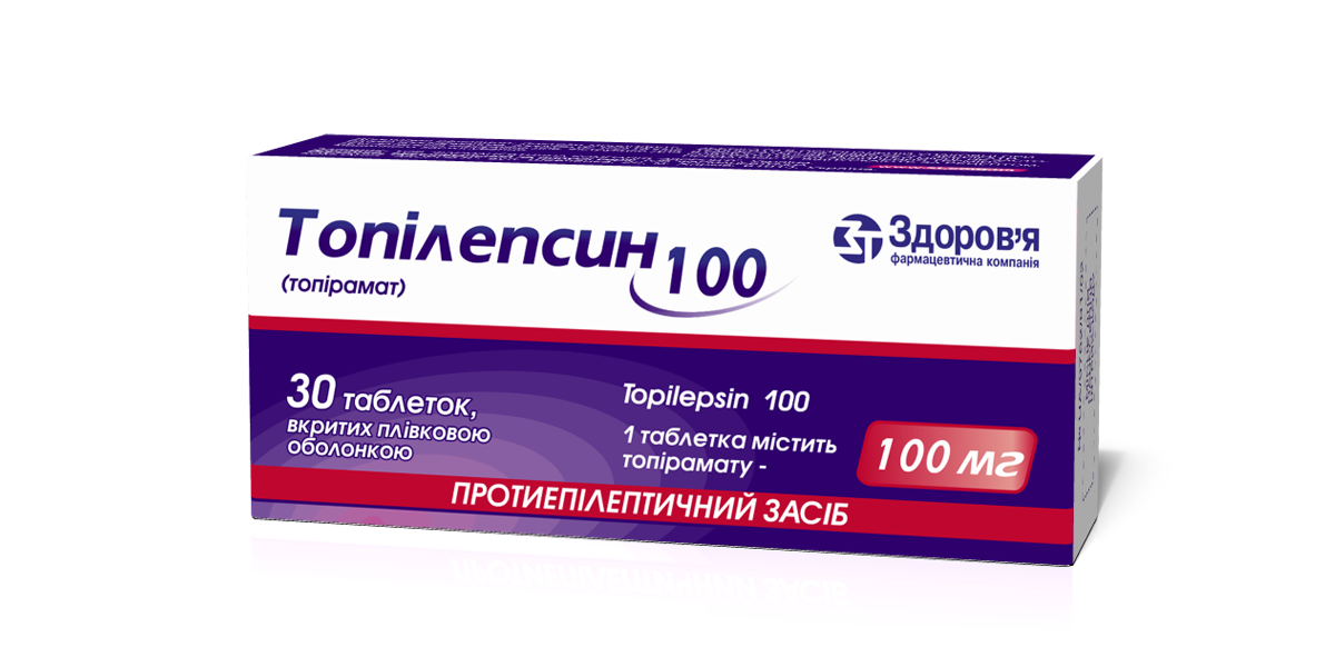 Topilepsin coated tablets 100 mg. №10