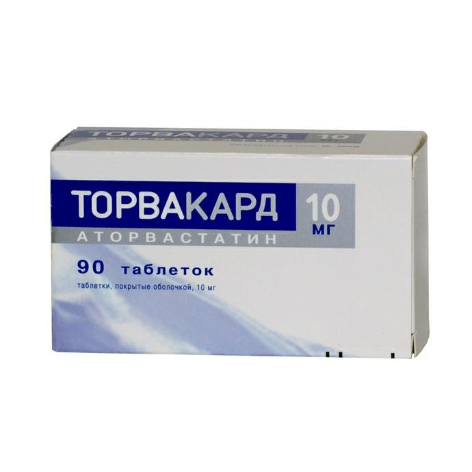 Torvacard Cristal coated tablets 10 mg. №90