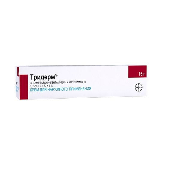 Triderm cream 15 g.