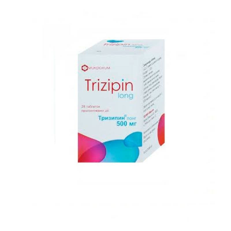 Trizipin Long tablets with prolonged release 500 mg. №28 vial