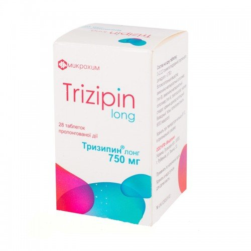 Trizipin Long tablets with prolonged release 750 mg. №28 vial