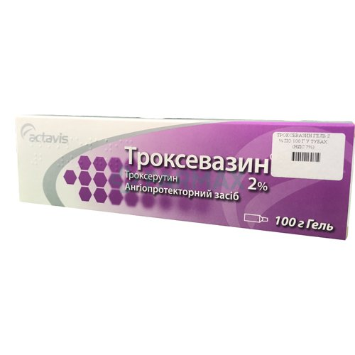 Troxevazin gel 2% 100 g. tube