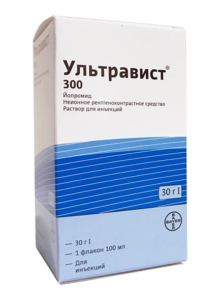 Ultravist (iopromide) 300 solution for injection 300 mg/ml. 100 ml. №1 vial