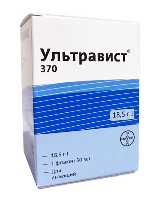 Ultravist (iopromide) 370 solution for injections 370 mg/ml. 50 ml. vial №1