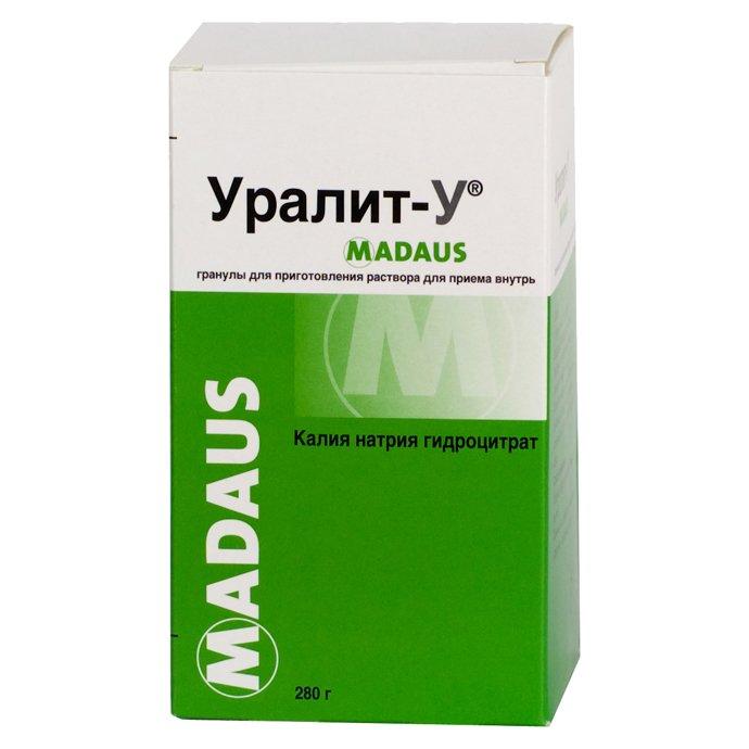 Uralit-U (potassium-sodium-hydrocitrate complex) granules oral use 280 g.