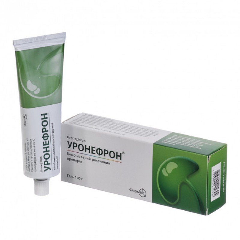 Uronefron (phytoextracts of medicinal plant materials) gel 100 g.