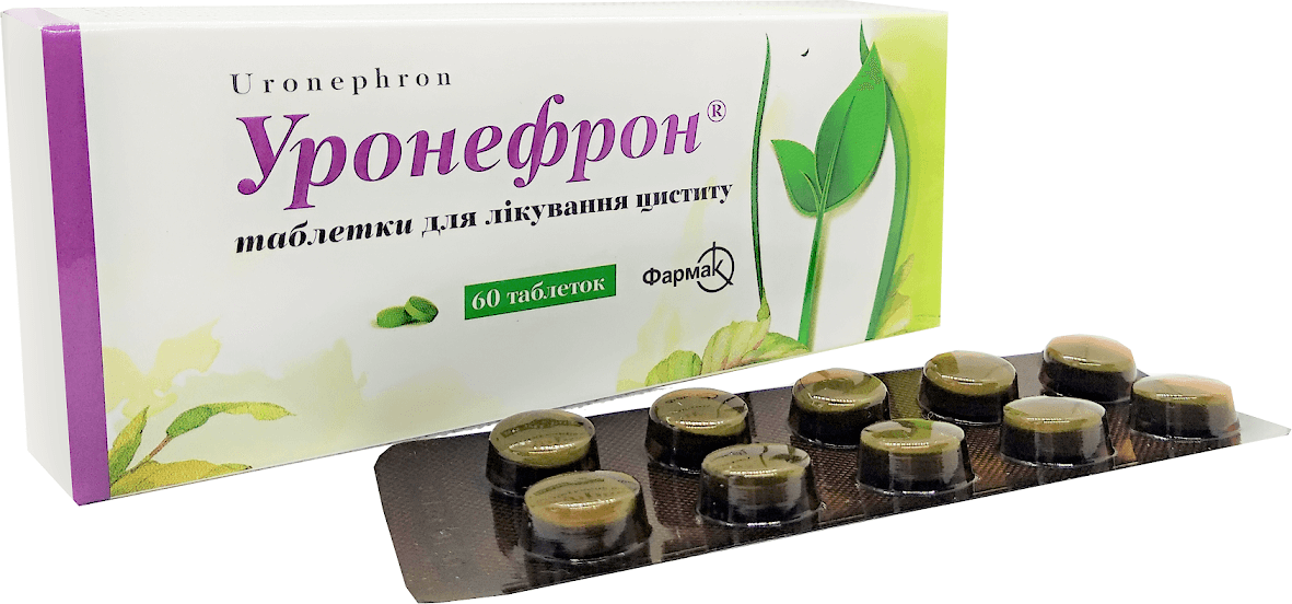 Uronefron (phytoextracts of medicinal plant materials) coated tablets №60
