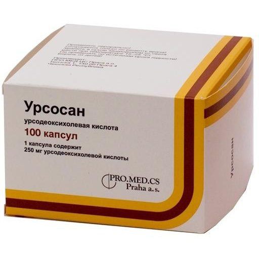 Ursosan (ursodeoxycholic acid) capsules 250 mg. №100