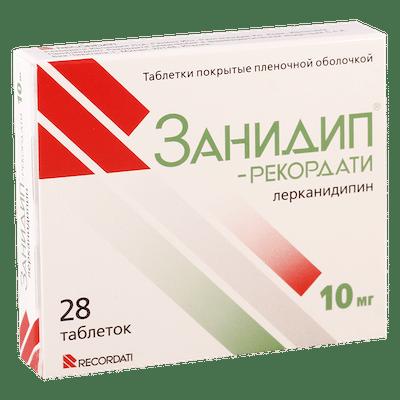 Zanidip (lercanidipine hydrochloride) coated tablets 10 mg. №28