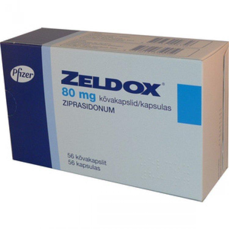 Zeldox (ziprazidone) capsules 80 mg. №28