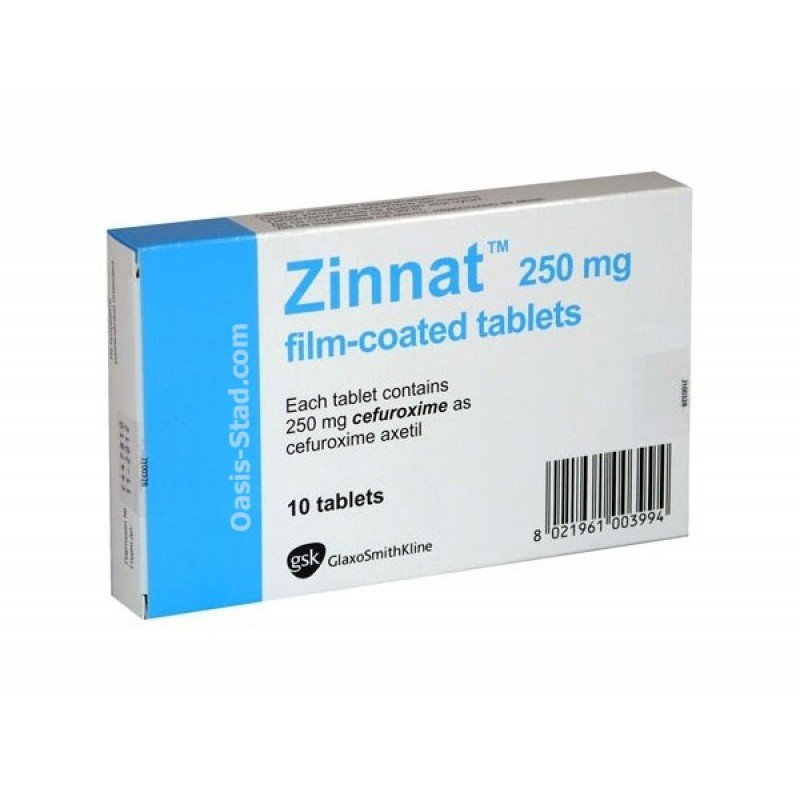 Zinnat (cefuroxime) coated tablets 250 mg. №10