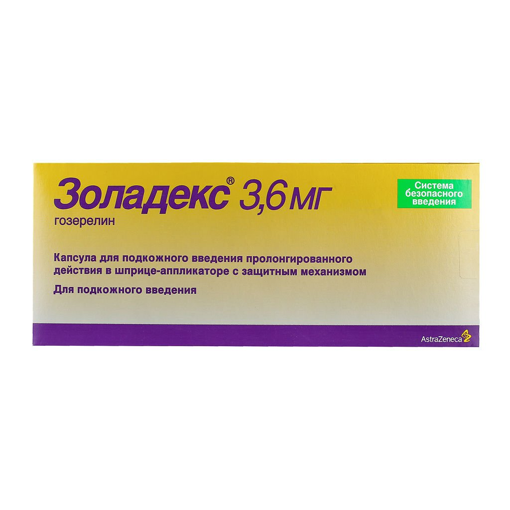 Zoladex (gozerelin) capsules for subcutaneous use 3.6 mg.