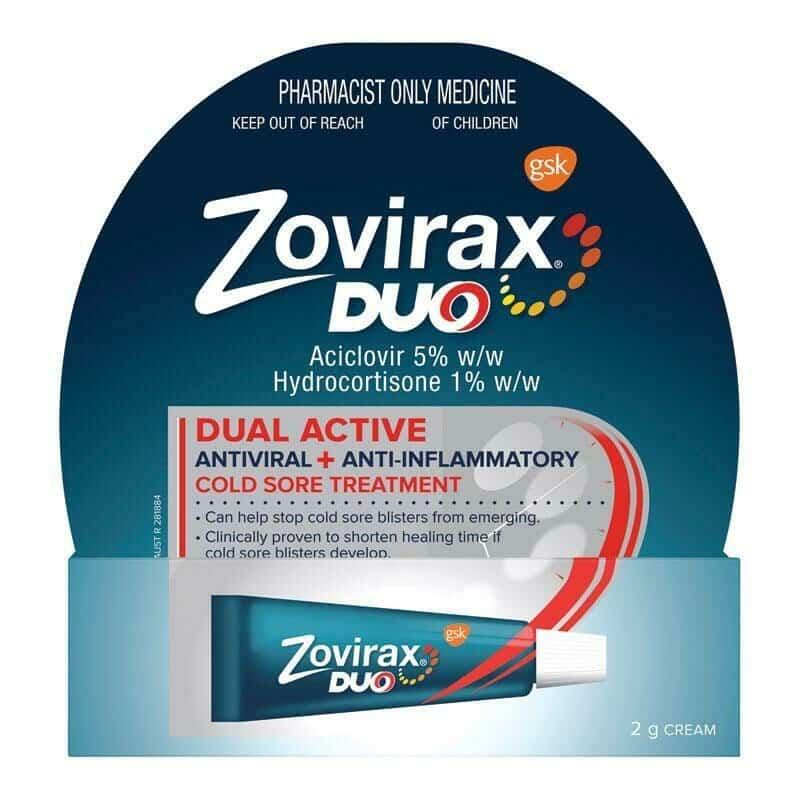 Zovirax Duo (acyclovir) cream2 g. tube