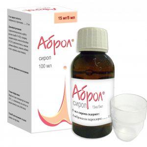 Abrol (ambroxol) syrup 15 mg/5 ml. 100 ml.